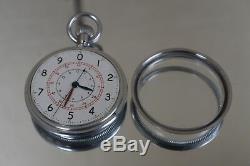 RARE Zenith Swiss Made Royal Navy UK Great Britain WWII Pocket Deck Watch