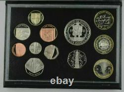 ROYAL MINT 2009 Proof UK Coin Set With Rare Kew Gardens 50p in Leather Case