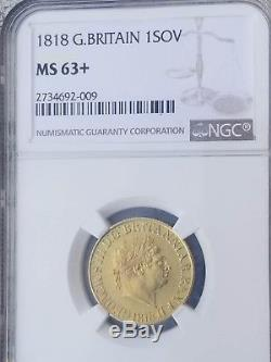 Rare 1818 Great Britain ISOV gold coin NGC MS63+