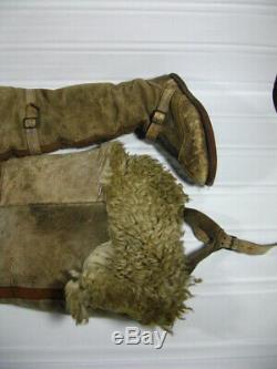 Rare 1918 Original WWI British Royal Flying Corps FUG Boots WOW