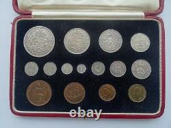 Rare 1937 George Vi, Specimen Coin Set, Fifteen Coins, Incl Maundy Original Case