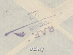 Rare 1956 Suez Crisis FPO 164 Nicosia Cyprus RAF CENSOR 22 Air Mail Cover