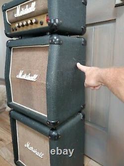 Rare 80's Vintage Marshall Lead 12 Mini Stack Black Slant & Straight Cabs