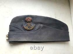 Rare Antique British Army Service Cap Men's Hap Headdress
