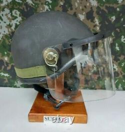 Rare British Army Military SAS Surplus EOD Ballistic Combat Hel met + Visor