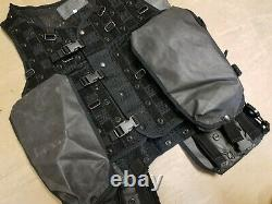 Rare British Army SAS SBS UKSF MCT CACH Black Tactical Vest With Pouches Large L