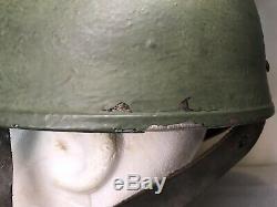 Rare British MKI WWII Paratrooper Helmet With Leather Chin Strap 1943