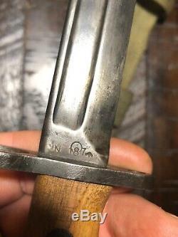 Rare British No. 5 Mk. I Jungle Carbine Bayonet by Radcliffe N187 Scabbard & Frog