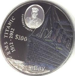 Rare British Virgin Islands 2012 Large 1 kilo Silver Coin Titanic 1912-2012
