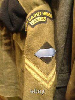 Rare Canadian Fort Gary Horse Bd With All Patches And Beret