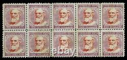 Rare, Confederate states, General Lee, High Value 10 dollars, set of Ten stamps