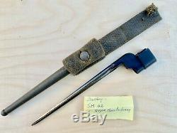 Rare Cruciform No 4 Mki Spike Bayonet, Scabbard Original British Wwii Singer Exc