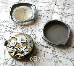 Rare Early Chronograph Trench Watch, Army, Military, Ww1, Ww2