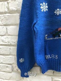 Rare Find RALPH LAUREN VTG 1983 Ski Winter Scene Wool Sweater, Great Britain, M