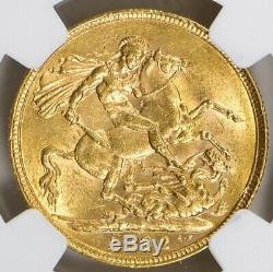 Rare In Grade 1892 Great Britain Gold Sovereign Ngc Au-55