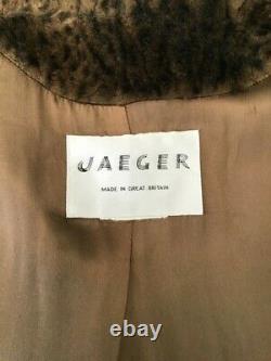 Rare Jaeger Designer Genuine Vintage Luxury Leopard Faux Fur Swing Coat 12 to 14