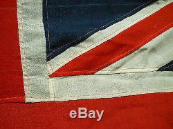 Rare Large Vintage British Navy Ensigen Ships Flag