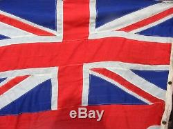 Rare Large Vintage British Navy Ensigen Ships Sewn Flag