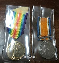 Rare Newfoundland Regiment Duo #4751 Pte G P Soper MD1
