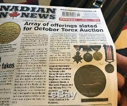 Rare Newfoundland Regiment Quad & Death Plaque to J H Simms MD2