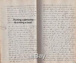 Rare Officers Handwritten WWI Naval Battle of Jutland Diary 300 pgs