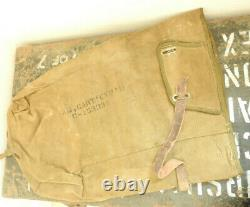Rare Original Military WW2 M3A1 Scout Car Empty Rounds Canvas Bag Pouch (5325)