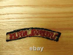 Rare Original Military WWI/II Liverpool Rifles Cloth Shoulder Title Badge (4391)
