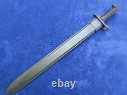 Rare Original Us M1905/42 Bayonet And Scabbard Made By Wilde & Tool