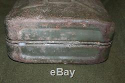 Rare Original WW2 British Army Vehicle Gasoline (Jerry) Can, Marked WD & 1944 d