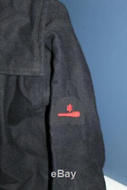 Rare Original WW2 British Navy Sailors Seaman Gunner Patched Navy Wool Jumper