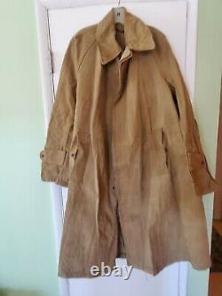 Rare Original Ww 2 1943 British Tropical Kd Canvas Duck Overcoat Large-xl Minty