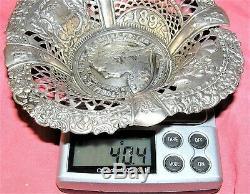 Rare Queen Victoria Sterling Silver Bon Bon Candy Dish 1837 1897 Diamond Jubilee