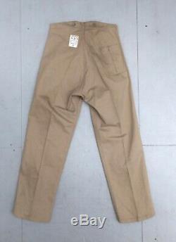 Rare RAF WW2 Trousers Khaki Drill Airmen 1937 Pattern 1943 Dated Unworn 28x28