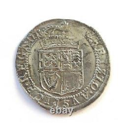 Rare Scottish Charles 1st Hammered Silver Half Merk (6 Shillings and 8 Pence)