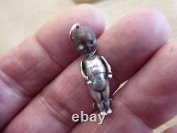 Rare Solid Silver Ww1 Fumsup Good Luck / Touch Wood Charm