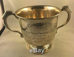 Rare Sterling Silver 1942 St. John's Regatta Governor's Cup Newfoundland Regiment