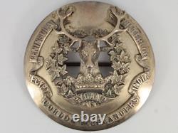Rare Victorian Gordon Highlanders Sterling Silver Officers Plaid Badge 135g Gf88