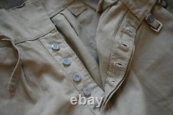 Rare Vintage British Army Khaki Drill Desert Shorts 1942 Dated 27 Waist Gurkha
