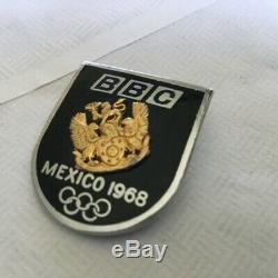 Rare Vintage Olympic pin badge BBC TV GREAT BRITAIN 1968 MEXICO enamel