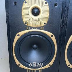 Rare Vintage Tannoy Eclipse Gold Speakers Late 80s Made in Great Britain