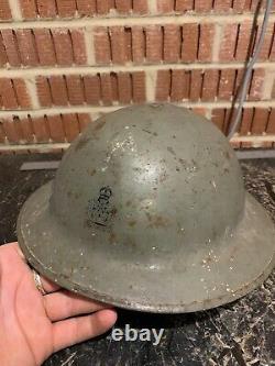 Rare WW1 Intelligence Corps British Army Officers Brodie Helmet