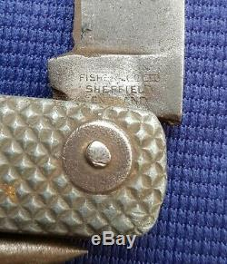 Rare WW2 British Navy Army Jack Knife Clarkson Fisher & Co Ltd Sheffield England