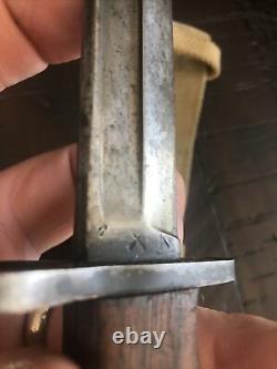 Rare WW2 British No. 5 Jungle Carbine Bayonet by Wilkinson w Scabbard & Frog WSC