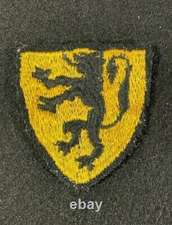 Rare WW2 German Waffen SS Flemish Flandern Foreign Volunteers Tunic Badge