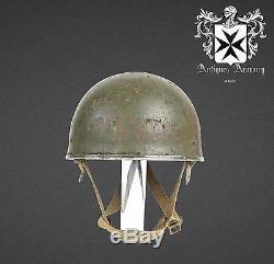 Rare WW2 Original British Paratrooper Helmet MKII BMB 1944