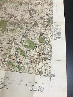 Rare WWI 1916 British France Ypres Ordinance Artillery Marker Trench Map Relic
