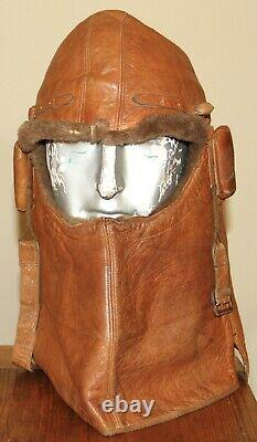Rare Ww1 Royal Flying Corps. Cowl Flying Helmet Numbered & Wd Stamped