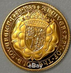 Rare1989 Proof Gold 1/2 Sovereign Great Britain No Box Or Coa #555