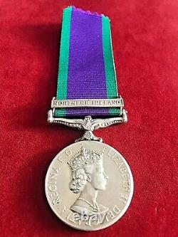 Royal Green Jackets (rgj) Northern Ireland'gsm' Silver Medal Rare