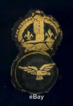 Royal Naval Air Service- Petty Officer cap badge- Original rare